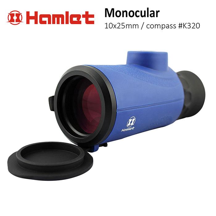 單車 自行車 單眼望遠鏡【Hamlet 哈姆雷特】8x42mm 防水型手持單筒望遠鏡 照明指北型【K320】