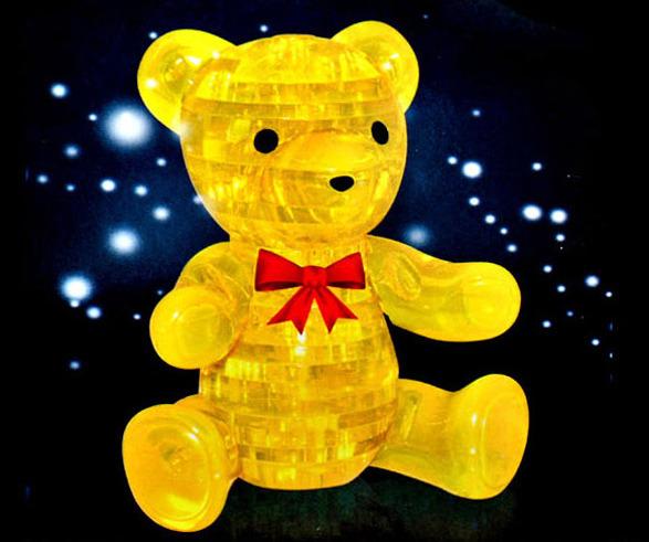 3D立體 小熊 水晶拼圖 熊 公仔拼圖