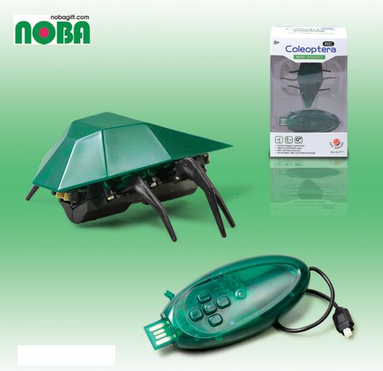 USB 充電 搖控 多彩 機械 甲蟲 玩具 尾部會發光喔