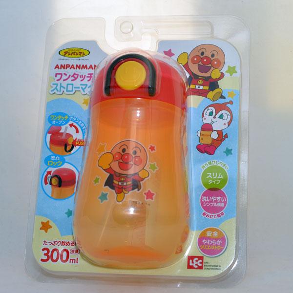 麵包超人 兒童水杯 附伸縮吸管 300ml 日本帶回正版商品