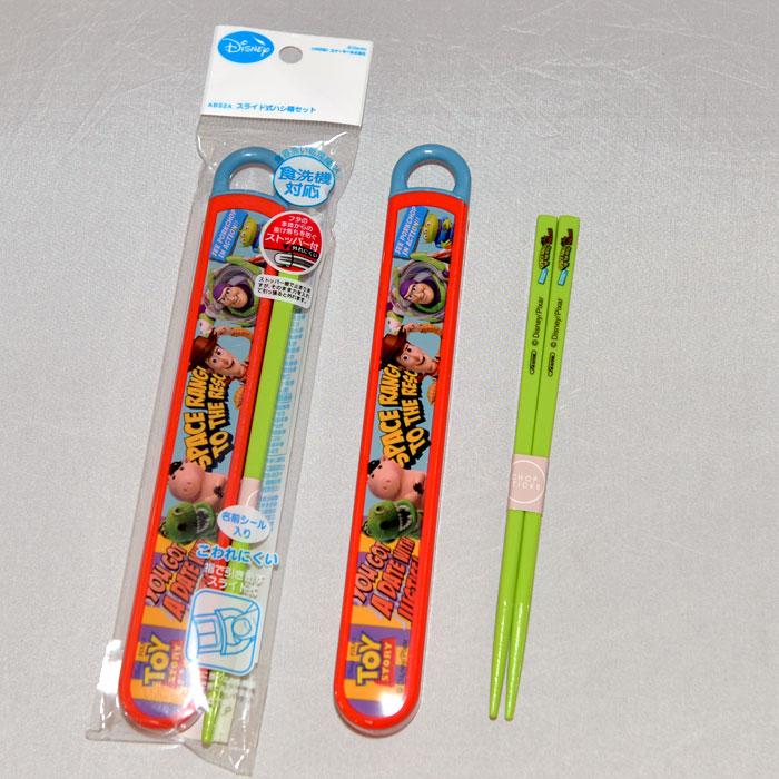 玩具總動員 筷子組附保存盒 日本製迪士尼正版