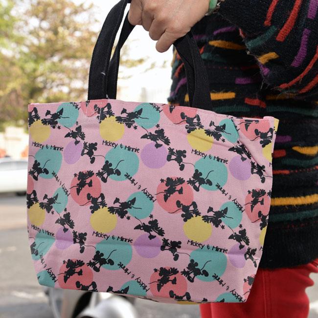 米奇 & 米妮 帆布印花手提袋 迪士尼正版 日本帶回