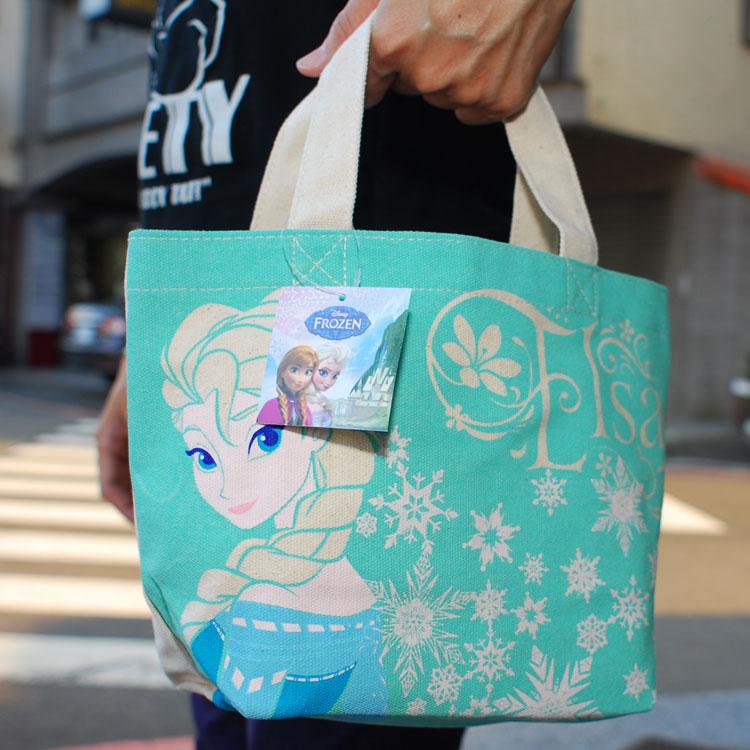 冰雪奇緣 安娜 艾莎 手提袋 便當袋 購物袋 日本帶回正版商品