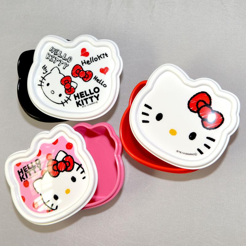 Hello Kitty 三個一組 收納盒 餐盒 置物盒 便當盒 保鮮盒 日本製造正版商品