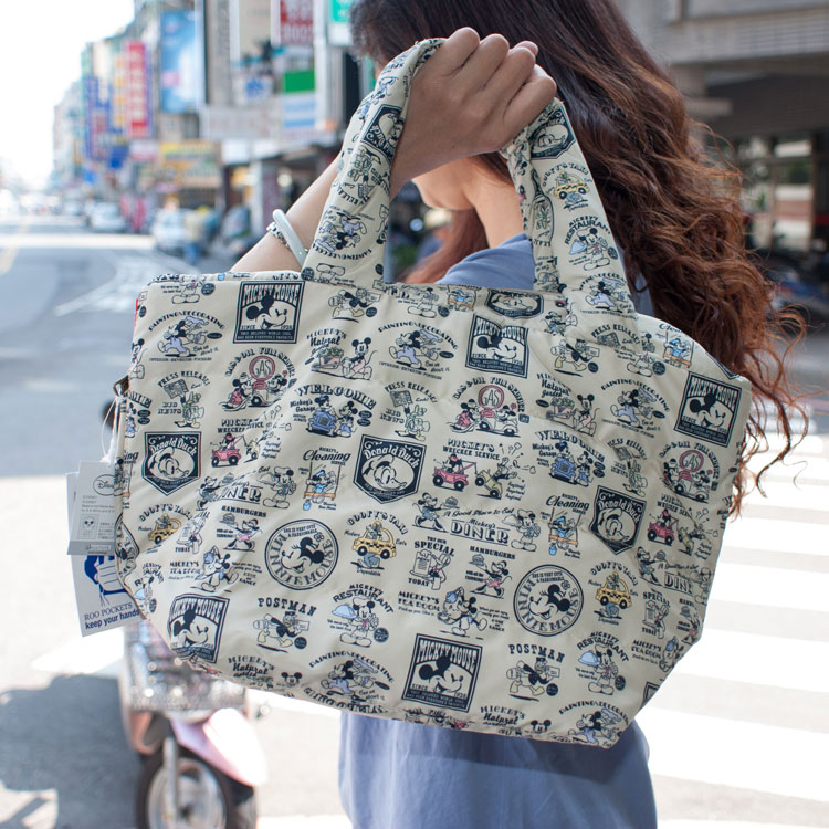 ROOTOTE 防潑水 暖手 羽絨手提包 迪士尼米奇樣式 日本帶回
