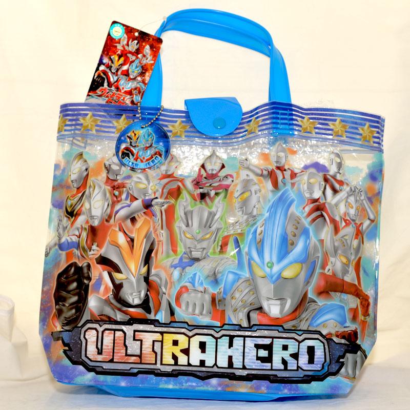 超人力霸王 PVC海灘袋 文具袋 手提袋 鹹蛋超人 奧特曼 日本帶回正版商品