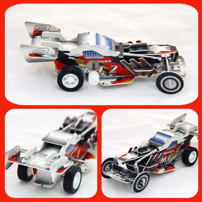超級賽車 可動發條式 3D立體拼圖玩具