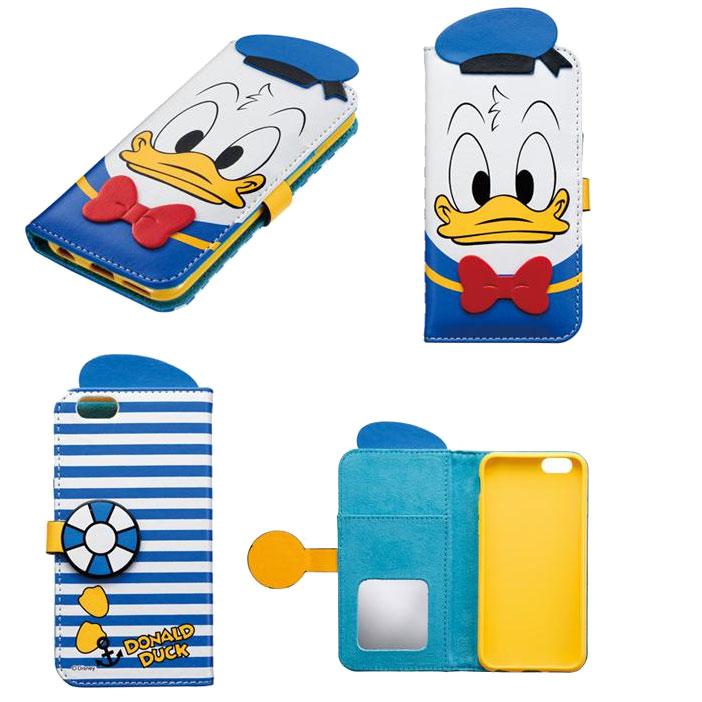 Apple iPhone 6 大頭唐老鴨 迪士尼 磁性 手機殻+保護套 附卡夾及鏡子 日本限定