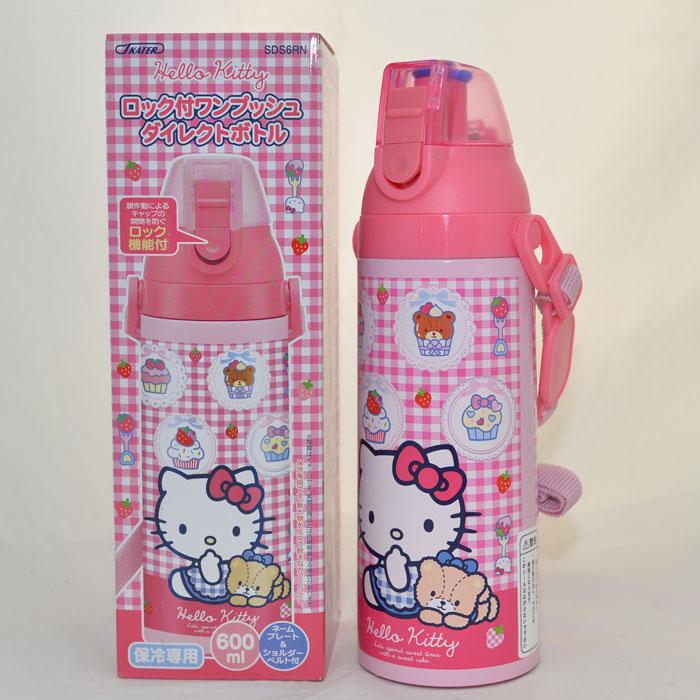 Hello Kitty 不鏽鋼保冷瓶 600ml 常溫水壼 日本帶回正版品