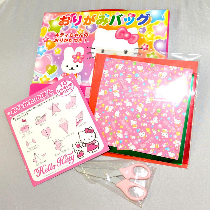 Hello Kitty 剪紙摺紙組盒 手提袋 日本帶回正版品