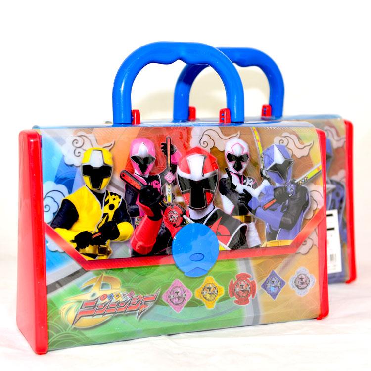 手裡劍戰隊 忍忍者 豐富文具手提包 內附蠟筆畫紙等文具 日本正版商品