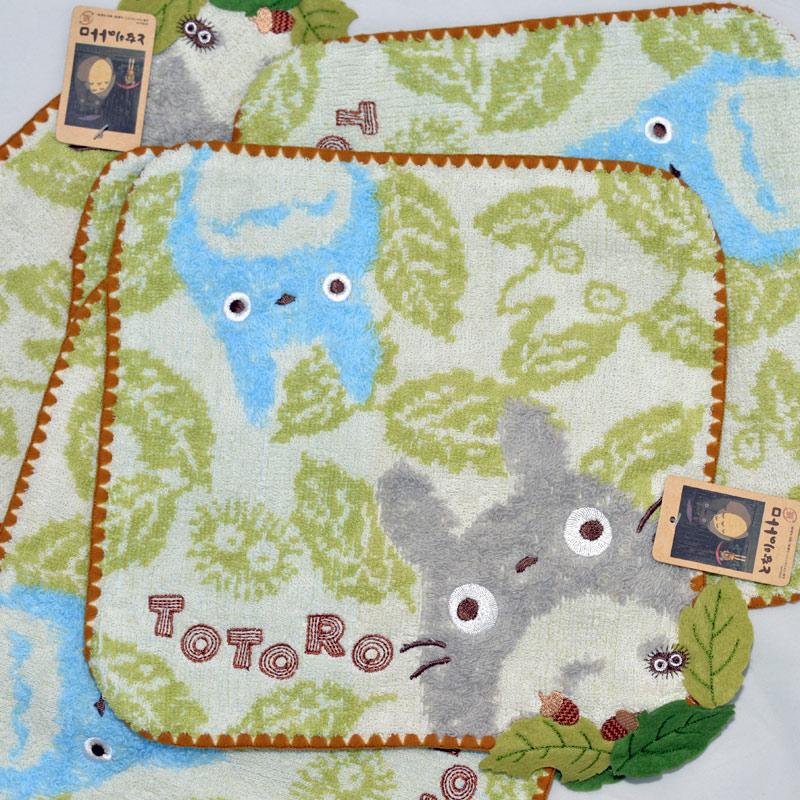 TOTORO 龍貓 純棉 立體方巾 毛巾 手帕 日本正版品