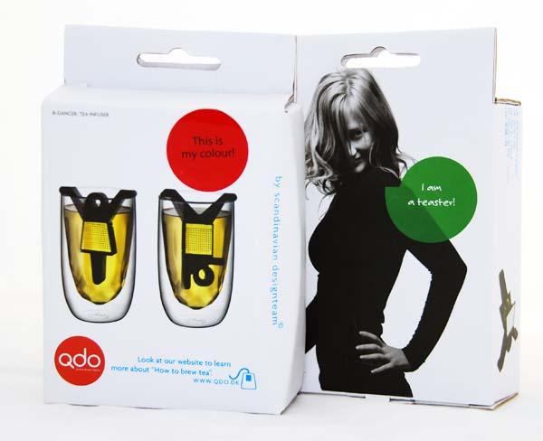 QDO B-Dancer 雙人舞者 創意泡茶組 茶袋 舞蹈家 茶包