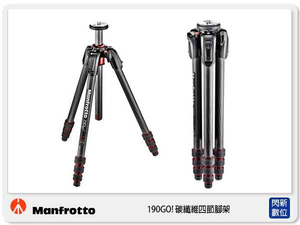 【分期0利率.免運費】Manfrotto 曼富圖 MT190GOC4TB 190GO 系列 碳纖維 四節 三腳架 不含雲台 (正成公司貨)