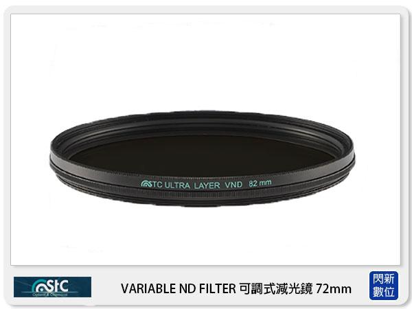 【分期0利率,免運費】送鏡頭蓋防丟夾~ STC VARIABLE ND FILTER 可調式減光鏡 ND2~ND1024 72mm ( 72,公司貨)