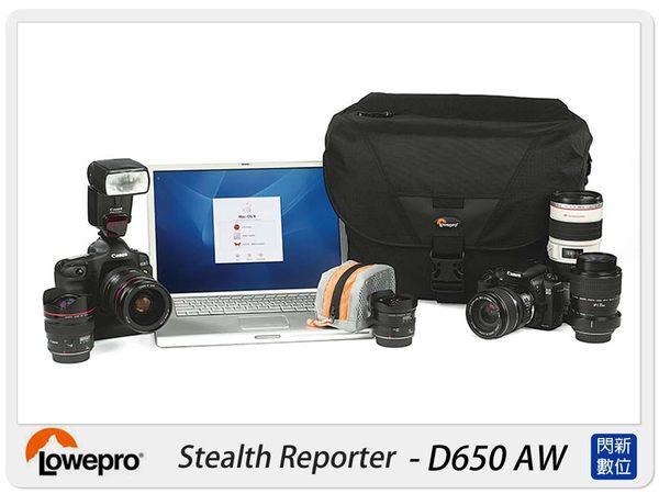 【分期0利率,免運費】Lowepro 羅普 Stealth Reporter D650 AW 數位報導家 側背 攝影背包 (可放筆電) D650AW