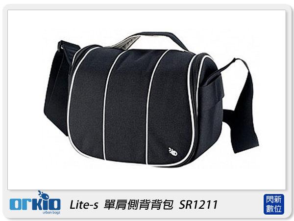 【分期0利率,免運費】ORKIO 比利時小魚 SR1211 單肩 側背 攝影背包 相機包 黑色