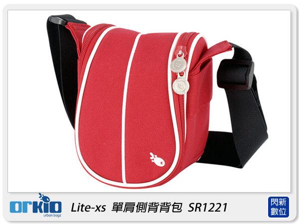 【分期0利率,免運費】ORKIO 比利時小魚 SR1221 單肩 側背 攝影背包 相機包 紅色