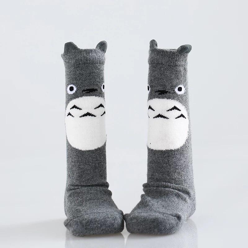 『DoudouMiki』童裝。灰色龍貓童襪。長襪。0-2歲襪。