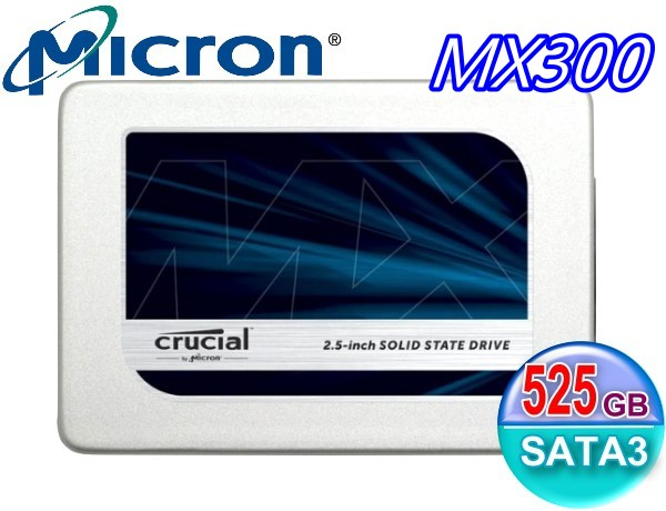 Crucial 美光 Micron SSD MX300 TLC 7mm 525G 525GB SATA3 固態硬碟