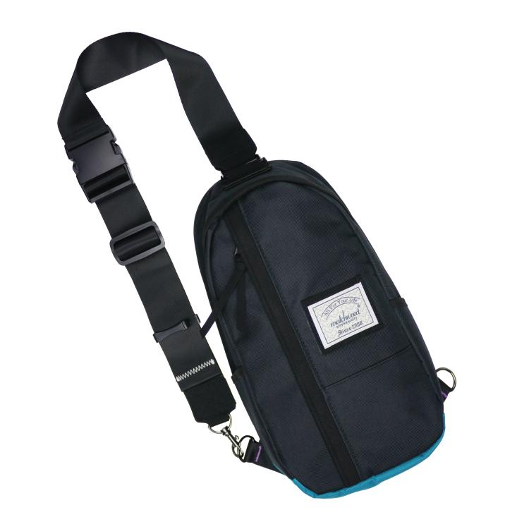 REMATCH - Matchwood Hunter 單肩後背包 黑湖水藍款 斜背包 側背包 隨身包 胸前包 基本防水 / 單車/ 輕便 / 休閒旅遊隨身 / 運動 / Fixed gear / Dickies / Porter 可參考