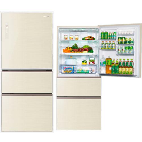 Panasonic 國際 NR-C618NHG 翡翠金 610L 3門冰箱 ECO NAVI+nanoe雙科技系列