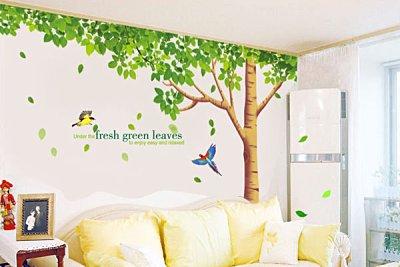 BO雜貨【YV2645】可移動 時尚組合相框壁貼 牆貼 壁貼紙 創意璧貼 大綠樹
