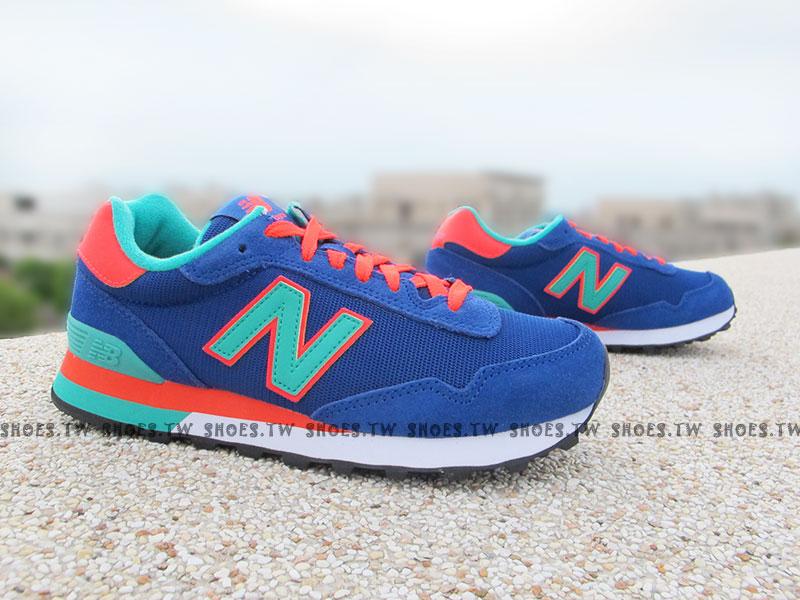 [23.5cm]《超值4折》Shoestw【WL515GRB】NEW BALANCE NB 515 復古慢跑鞋 繽紛夏季 撞色 藍橘 女生