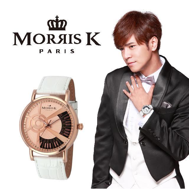 【Morris K】羅志祥代言 鋼琴狂想曲時尚腕錶-玫瑰金/43MM MK10315-TC04