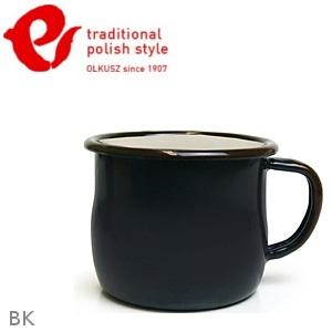 Emalia Olkusz 波蘭百年琺瑯杯/牛奶杯/琺瑯馬克杯250ml TPS 黑色 BK