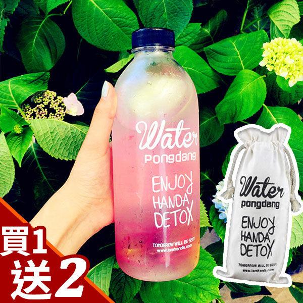 贈杯套+杯刷-韓國Water大容量水晶玻璃600/1000ml 水瓶 茶葉 水杯 隨手杯 咖啡 水壺 隨行杯 ANSHOP