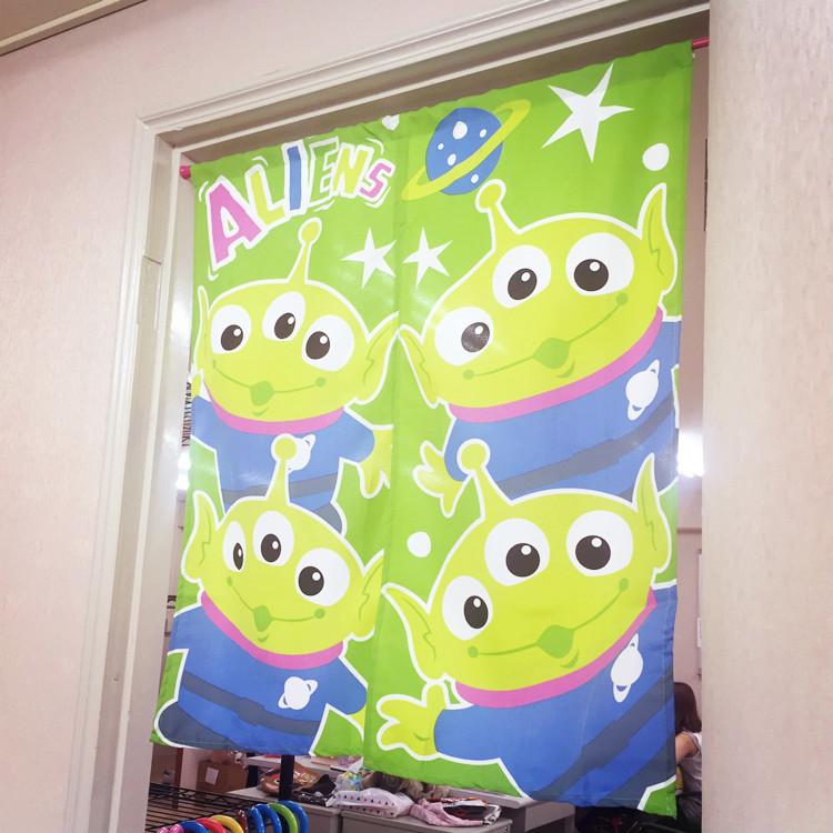 PGS7 (現貨+預購) 日本迪士尼系列商品 - 迪士尼 門簾 布簾 米奇米妮 小熊維尼 小豬 史迪奇 三眼怪