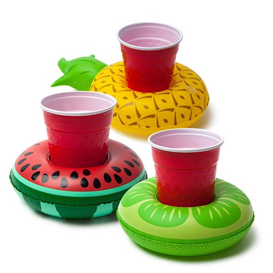 【美國BIGMOUTH】造型飲料杯游泳圈 水果款