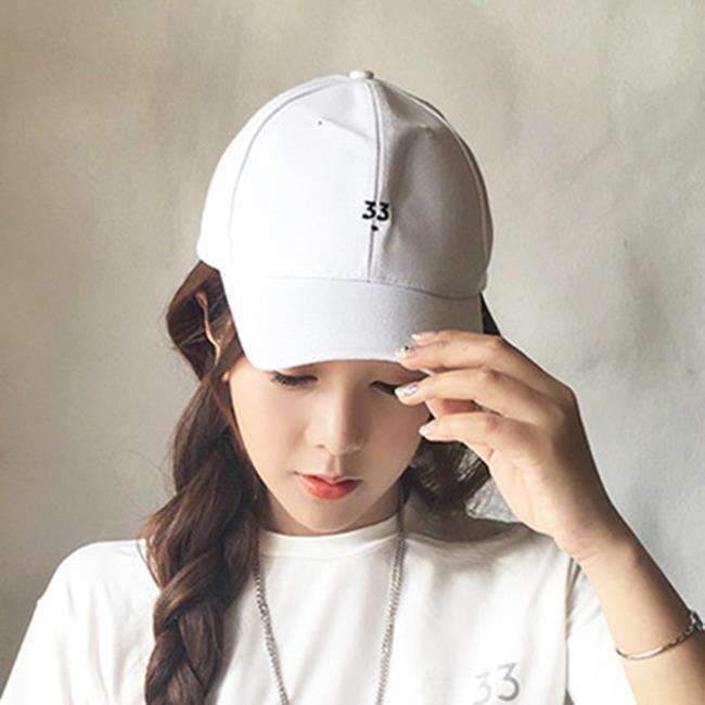 50%OFF【E015561H】林珊珊同款33數字鴨舌帽刺繡棒球帽女夏天遮陽彎簷帽情侶韓版