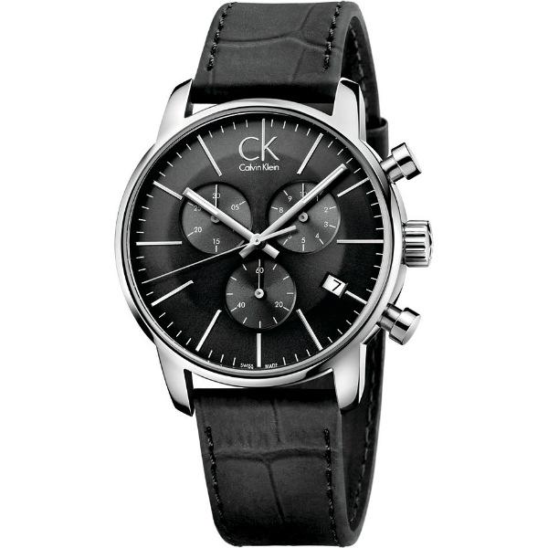 CK 都會系列(K2G271C6)都會時尚計時腕錶/黑面43mm