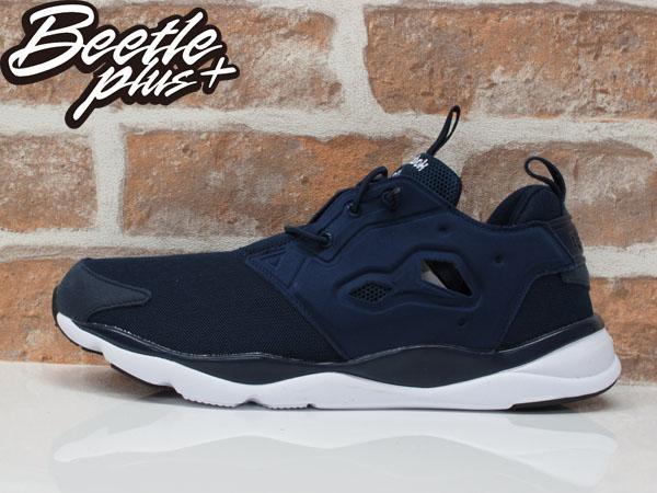 男生 BEETLE PLUS REEBOK FURYLITE 純色 襪套 PUMP 深藍 慢跑鞋 V68765 US10