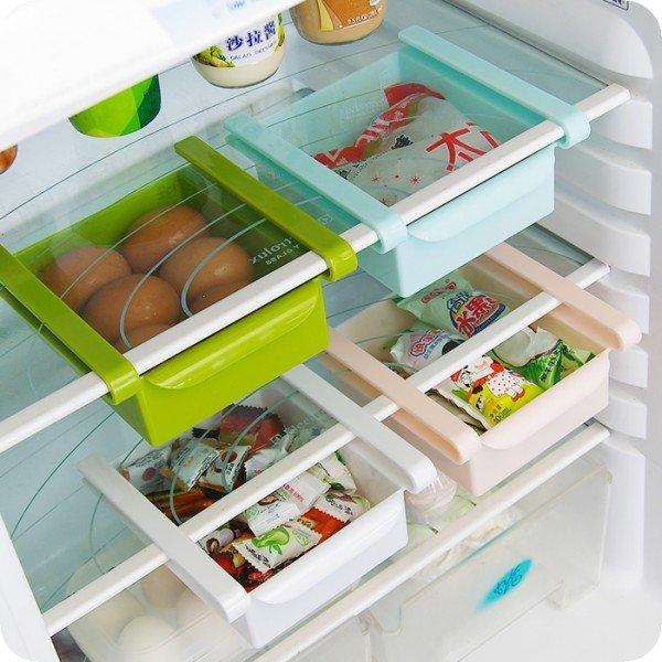 Loxin【SV5254】冰箱收納盒 抽動式分類置物盒 冰箱抽屜 置物盒 冰箱收納架 廚房收納