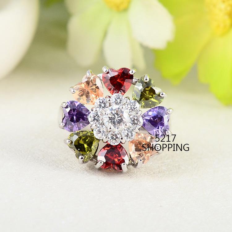 流行時尚鋯石戒指 宴會 派對 生日禮物 情人節禮物 5217SHOPPING R20