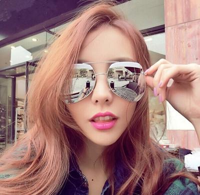 韓版大面稜角款細框太陽眼鏡
