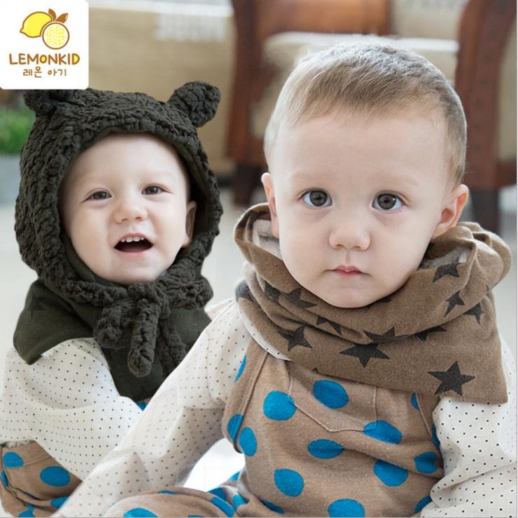WallFree窩自在★秋冬麻花編織雪白兔毛球保暖護耳兒童毛絨帽+圍巾 2件套