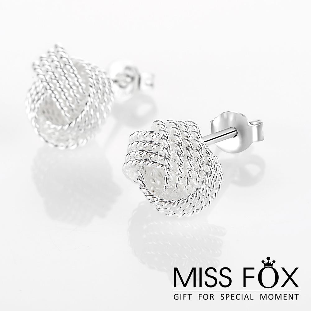 限時5折 鍍925純銀耳環 纏繞星球 經典款耳環 JJ1075