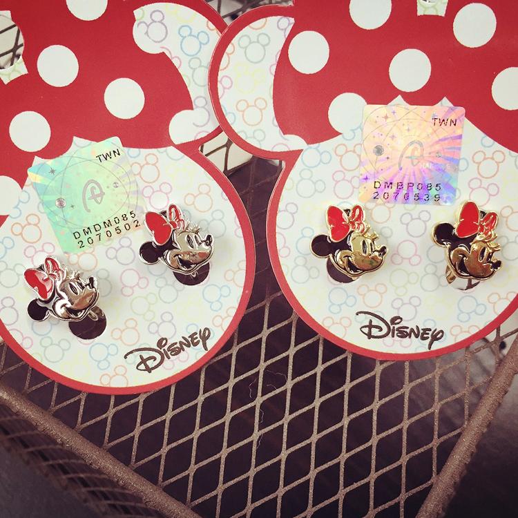 PGS7 日本迪士尼系列商品 - 迪士尼 造型 夾式 耳環 水鑽 Disney 米奇 米妮