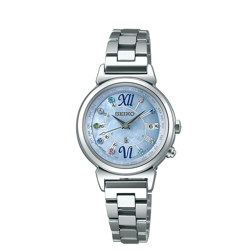 Seiko Vivace1B25-0AF0B(SSVV023J)美好時刻限量太陽能電波腕錶/藍面28mm
