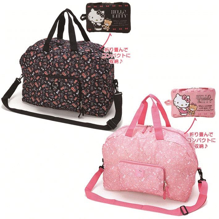 日本直送 Sanrio 三麗鷗 Hello Kitty 凱蒂貓 滿版風格 可摺疊收納 旅行包