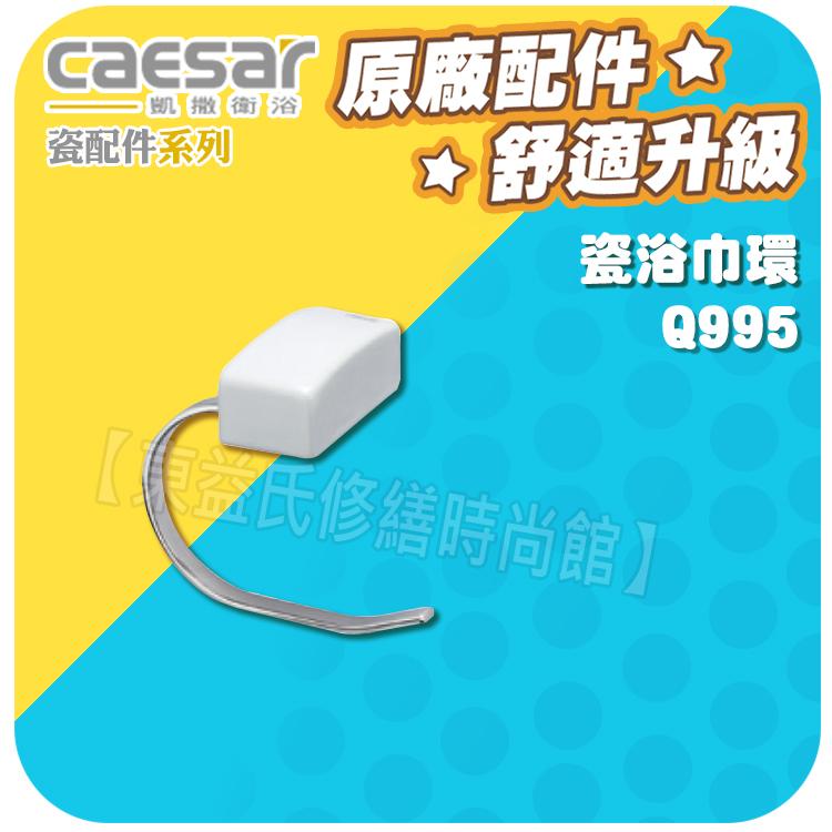 Caesar凱薩衛浴 瓷浴巾環 Q995 瓷配件系列【東益氏】漱口杯架 置物架 衛生紙架 馬桶刷架