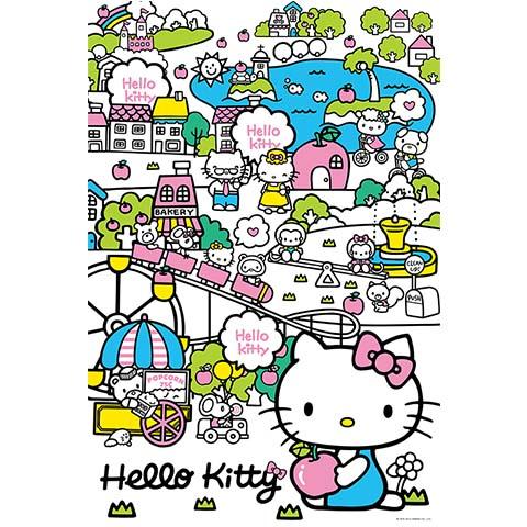 Hello Kitty城市遊樂園拼圖1000片