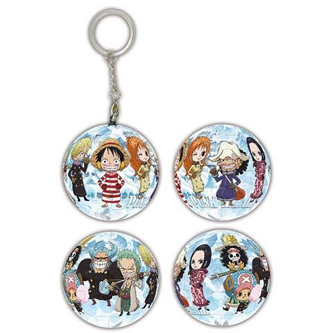 海賊王龐克哈薩特島(2)球形拼圖鑰匙圈24片