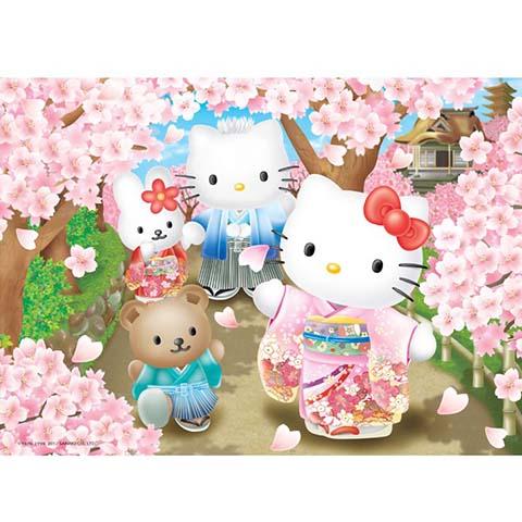 Hello Kitty賞櫻之旅拼圖520片