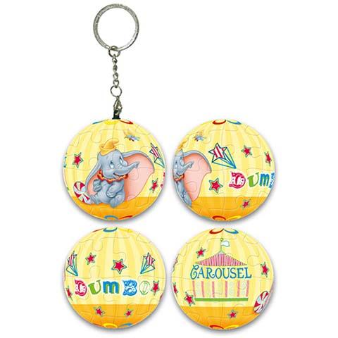 Dumbo小飛象馬戲團球形拼圖鑰匙圈24片