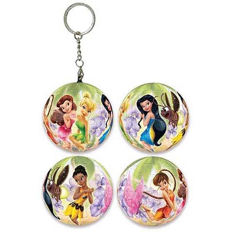 Fairies奇妙仙子球形拼圖鑰匙圈24片